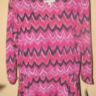 New Womens Sz L NY Collection 3/4 Sleeve Top Retail $44