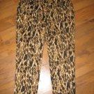 New Womens Sz 10 Rafaella Animal Print Curvy Ankle Length Pants