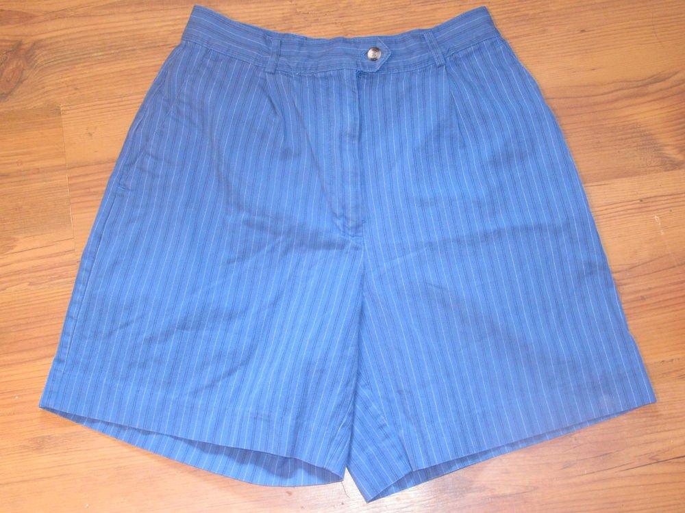 Womens Sz 8 Izod Blue Shorts EUC