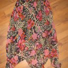 New Womens Sz S Shelly & Arnold Floral Handkerchief Skirt Retails $42