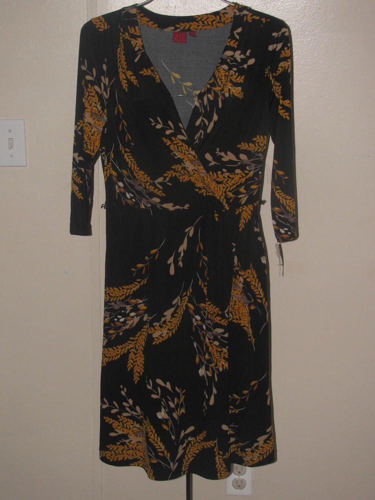 New Womens Sz S 212 Collection 3/4 Sleeve Dress
