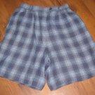 Womens Sz 6 Talbots Plaid Linen Shorts EUC