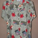 New Womens Sz M Ms. Lee Floral S/S Blouse