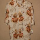 New Mens Sz M Natural Issue S/S Hawaiian Pineapple Pattern Shirt
