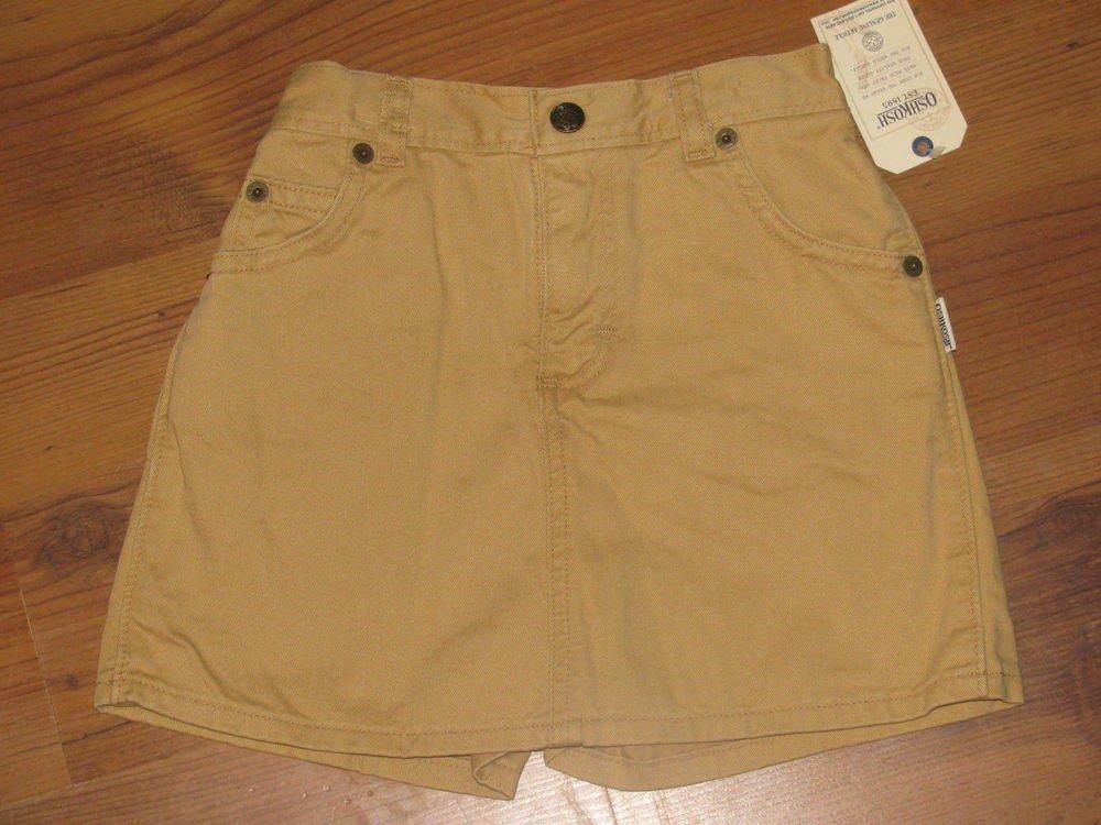 New Girls Sz 6X Oshkosh Tan Skort/Shorts