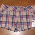 New Jr. Sz 11 SO Plaid Mini/Short Shorts