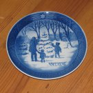"VINTAGE 1979 ROYAL COPENHAGEN CHRISTMAS PLATE ""CHOOSING THE CHRISTMAS TREE"""