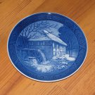 "VINTAGE 1976 ROYAL COPENHAGEN CHRISTMAS PLATE ""VIBAEK WATER MILL"""