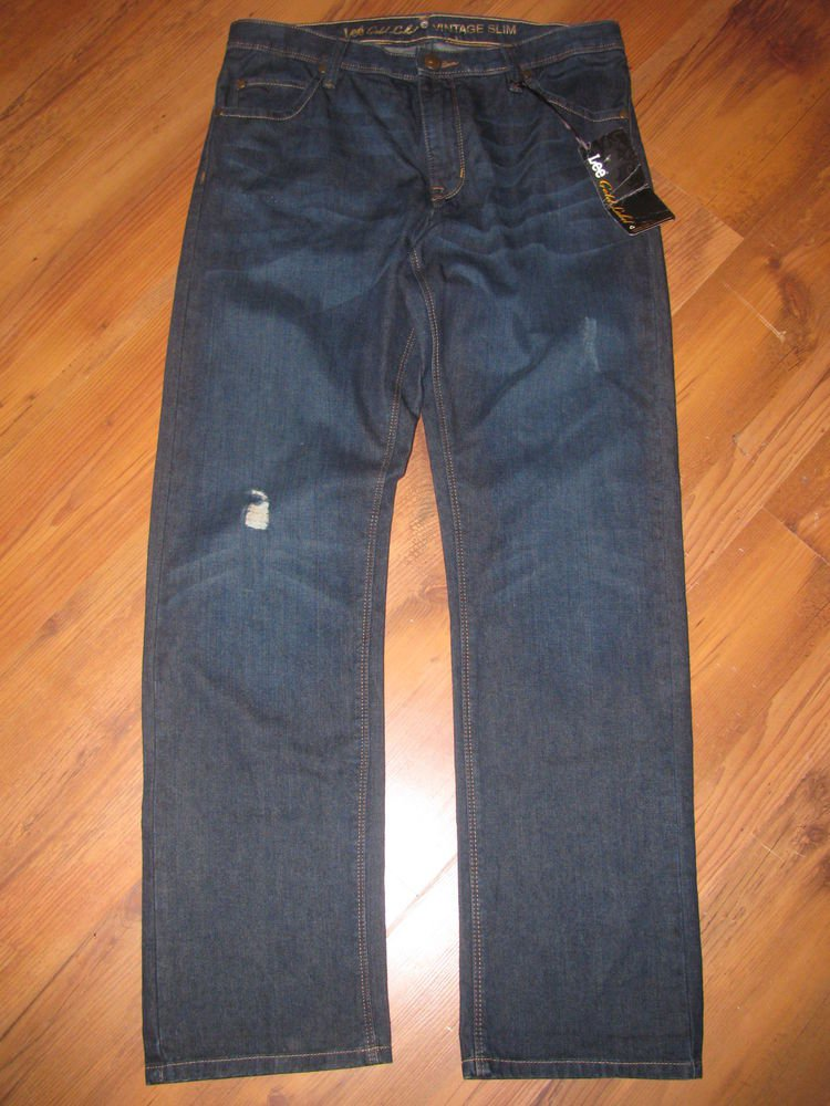 New Womens Sz 10 Lee Gold Label Vintage Slim Dark Blue Jeans Retails $44