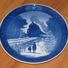 "VINTAGE 1973 ROYAL COPENHAGEN CHRISTMAS PLATE ""GOING HOME FOR CHRISTMAS"" TRAIN"