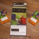 """Wallies Peel & Stick ABC's Chalkboard - 1 Sheet 9"""" x 25"""" - Bonus Chalk"""