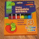 Academix Junior 4+ Jumbo Washable Markers 8 Brilliant Colors