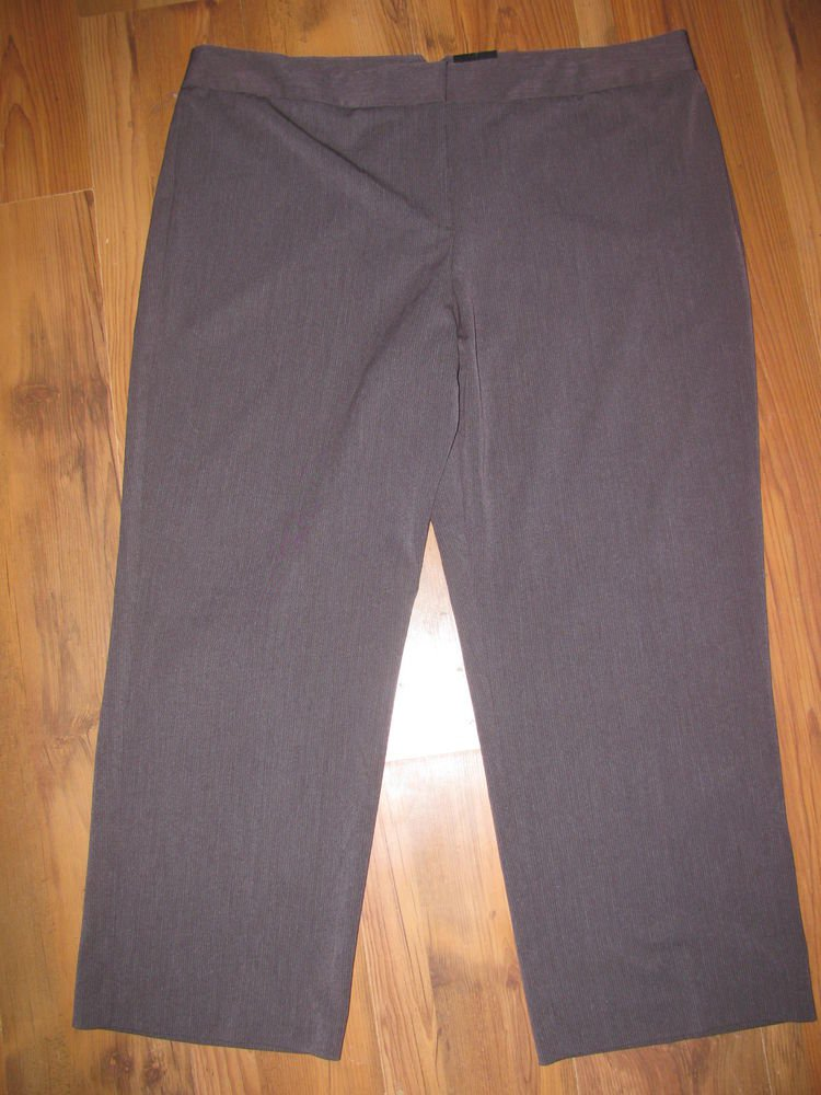 New Womens Sz 24 W George Woman Slimming Brown Pants