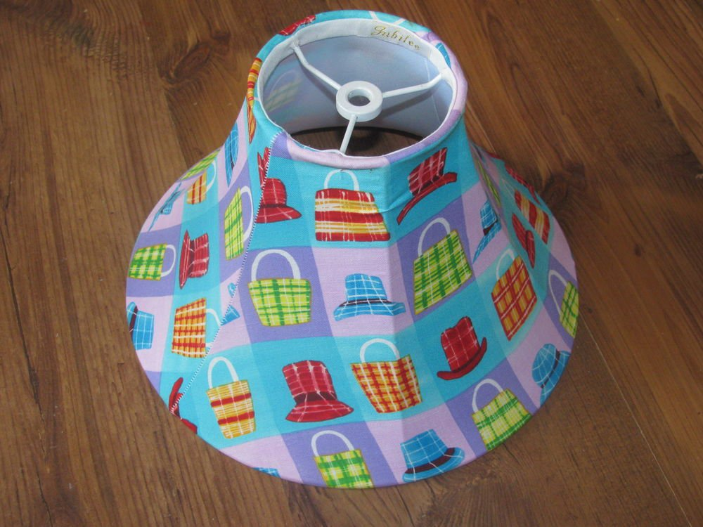 """New Jubilee Hat/Purse Lampshade - Base 10 1/4"""" Top 4"""", Height 6 1/2"""""""
