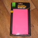 "Academix Pink Magnetic Self-Sticky Shopping To Do List Pad 50 Sheets 3 1/2"" x 6"""