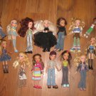 Lot of 14 Bratz Dolls Including 2 Miniatures and 1 Boy
