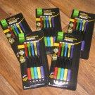 Lot of 5 Academix Mechanical Pencils 5 Pk Countour Comfort Grip Refillable