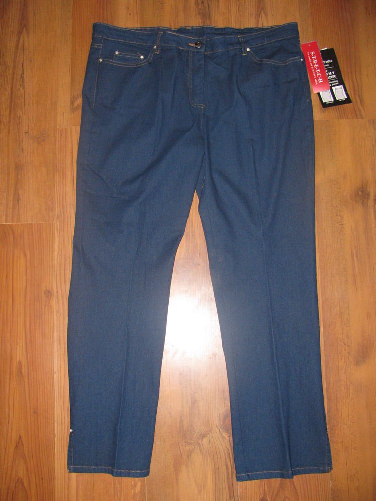 New Womens Sz 16 P C.D. Petites Tummy Reducer Stretch Jeans Retails $52