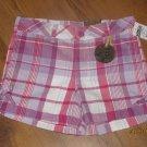 New Girls Sz 10 Star Ride Pink/Purple Plaid Shorts Retails $28