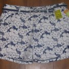 New Womens 16 M Lee Natural Fit Stretch Shorts Just Below Waist Instantly Slims