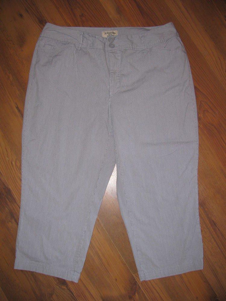 Womens Sz 16 W St John's Bay Woman Secretly Slender Capri/Crop Pants EUC