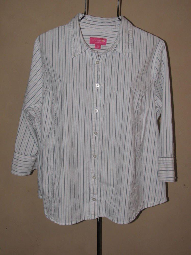 Womens Sz XXL Liz Lange Maternity 3/4 Sleeve Button Front Blouse/Top EUC