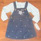 New Girls Sz 3T Mayfair 2 Piece Jean Dress