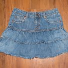 Girls Sz 12 Old Navy Ruffled Tiered Blue Jean Skirt