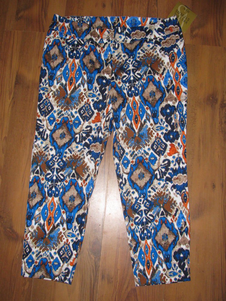 New Womens Sz 10 P Valerie Stevens Lightweight Capri Pants