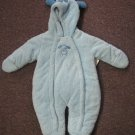 New Baby Boys Bebe d' Amour Puppy Blue Snowsuit