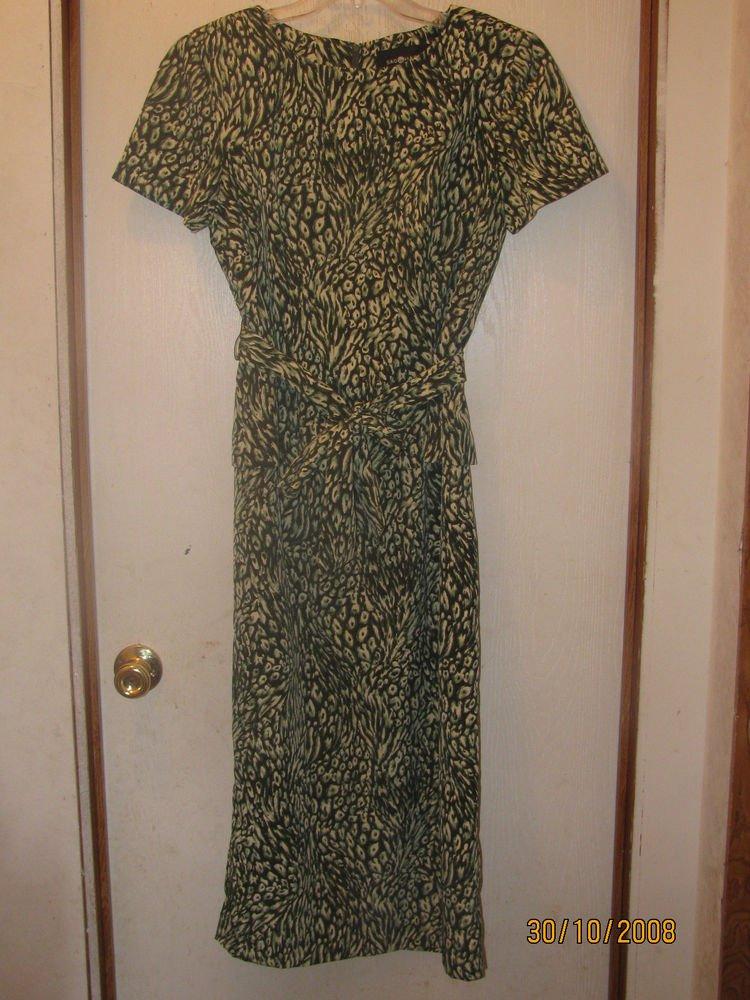 Womens Sz 8 Sag Harbor Layered Dress W/Belt EUC