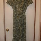 Womens Sz 8 Sag Harbor Layered Dress W/Belt EUC