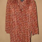 Womens Sz 2X Russell Kemp 3/4 Sleeve Button Front Blouse EUC