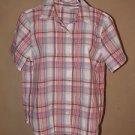Womens Sz 4 P Alfred Dunner S/S Plaid Blouse w/Pocket EUC