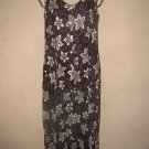 Womens Sz 6 Dressbarn Brown/Cream Button Front Summer Dress EUC
