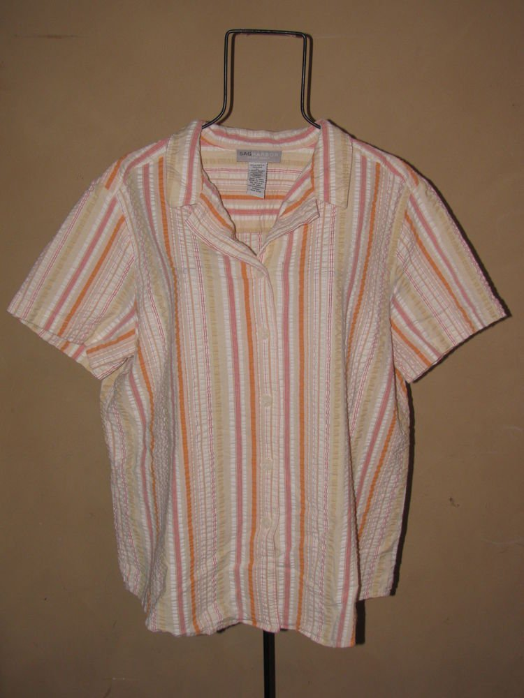 Womens Sz 1X Sag Harbor Sport Woman S/S Blouse/Top EUC