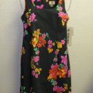 New Womens Sz 4 Rafaella Sportswear Black Floral Summer Dress $54