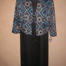 New Womens Sz 10 Black Danny and Nicole Dress w/Jacket $80