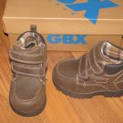 New Toddler Boys Sz 5 GBX Lil Gage Brown Velcro Boots