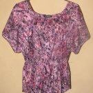 New Womens Sz L Nine West Jeans S/S Blouse/Top Retails $59.50