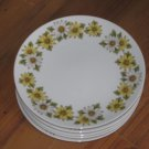 """Lot of 7 Noritake Cook'n Serve China Marguerite 6 3/8"""" Bread and Butter Plates"""