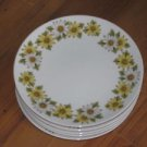 "Lot of 6 Noritake Cook'n Serve China Marguerite 8 1/4"" Salad Plates #6730"