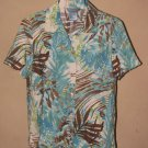 Womens Sz S Koret S/S Linen Blend Button Front Shirt/Blouse EUC