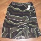 New Womens Sz L Versailles Pull On Below Knee Lined Skirt Retails $40