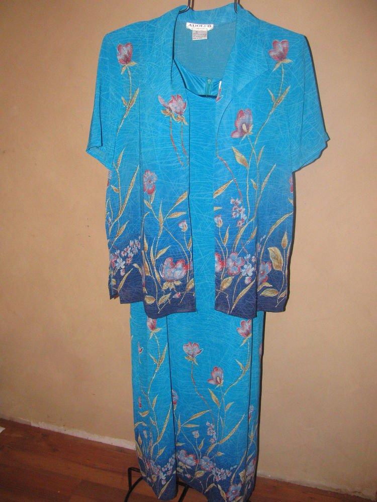 Womens Sz M Adolfo Collectibles 2 Pc. Dress EUC
