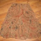 Womens Sz PM Silk Coldwater Creek Paisley Ruffled Skirt EUC