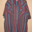 Vintage Mens Ely Plains Big Man Sz 20 35/36 Pearl Snap S/S Shirt EUC