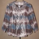 Womens Sz 2 (12/14) Chico's Lightweight Jacket and Cami EUC Blouse Top
