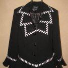 Womens Sz 12 Natasia Collection New York Black/White Jacket/Blazer EUC