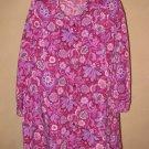 Womens Sz 3X Brylane Woman Button Front Floral Blouse EUC